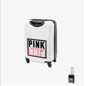 PINK Victoria's Secret Bags - NWT LARGE VS PINK WHEELIE HARD SUITCASE LUGGAGE